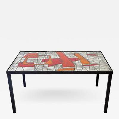 Robert Jean Cloutier French Ceramic Coffee Table by Jean and Robert Cloutier Freres Cloutier