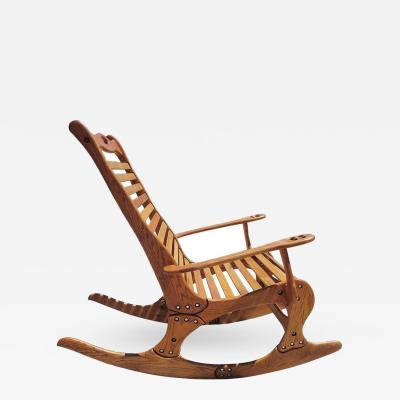 Robert Jocko Johnson Hand Sculpted Rocking Chair by Robert Jocko Johnson 1998
