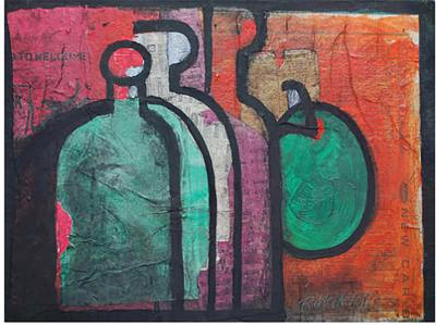 Robert Joseph McIntosh Still Life with Bottles