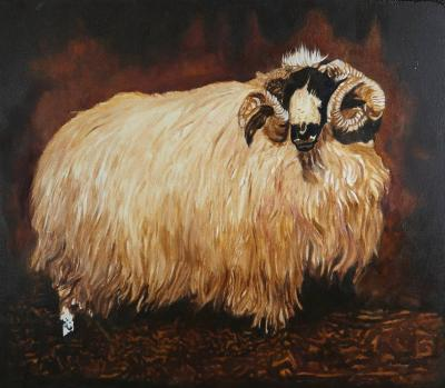 Robert Kitchen Unfinished Ram Robert Kitchen Oil on Canvas