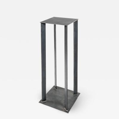 Robert Koch Artist Made Industrial Steel Pedestal Stand by Robert Koch