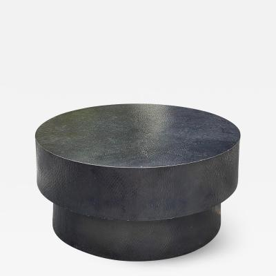 Robert Kuo Modern Robert Kuo Pounded Copper Double Drum Coffee Table