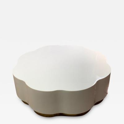 Robert Kuo Robert Kuo Leaf Design Lacquered Cocktail Table