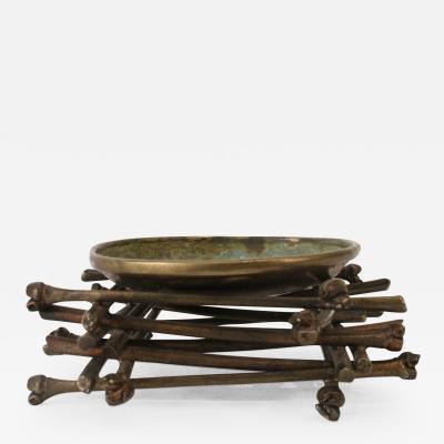 Robert Lee Morris Robert Lee Morris Ritual Bowl on Bamboo Pyre 1990