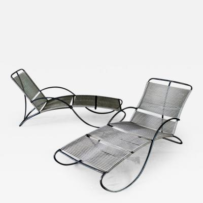 Robert Lewis S Shape Pair of Lounge Chaise by W Lamb and R Lewis