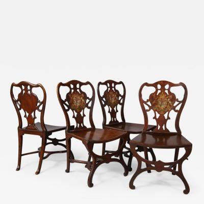 Robert Manwaring Four George III Hall Chairs