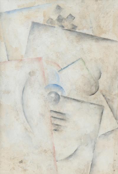 Robert Marc Robert Marc 1943 1993 Untitled Cubist oil on board signed c 1975 80