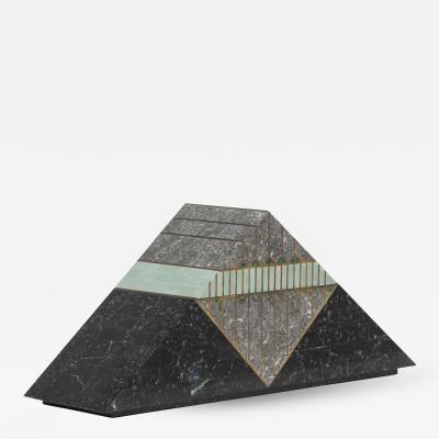 Robert Marcius A Casa Bique Designed Tessellated Stone Pyramid Box 1980s