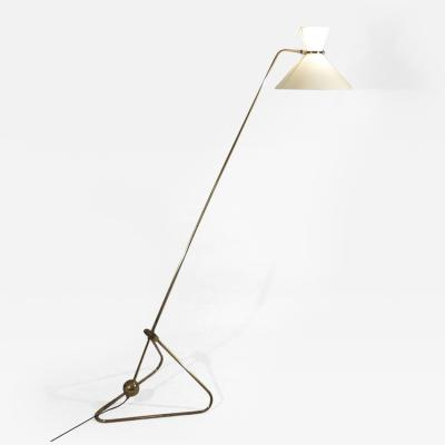 Robert Mathieu Counterweight Brass Standing Lamp