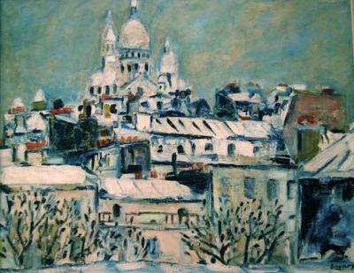 Robert Maurice Savary Sacre Coeur under the Snow Paris
