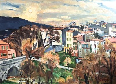 Robert Mendoze Landscape Cityscape Sainte Anastasie