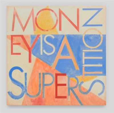 Robert Montgomery Mantra Painting Money Is A Superstition