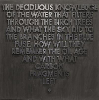 Robert Montgomery Seattle Poem Deciduous Knowledge