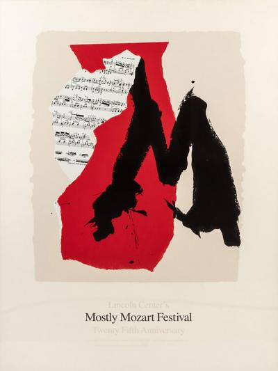 Robert Motherwell Framed Lincoln Centre Mostly Mozart 25th Anniversary Poster by Robert Motherwell