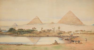 Robert Murdoch Wright Large watercolour of Cairo by Robert Murdoch Wright