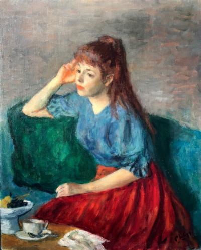 Robert Philipp Girl in Blue