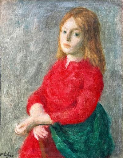 Robert Philipp Girl in Red Dress
