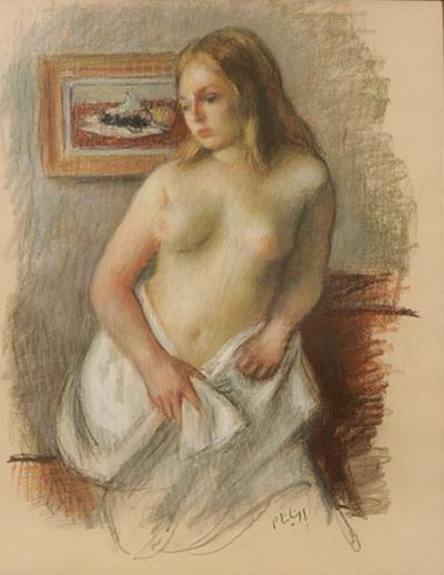 Robert Philipp Standing Nude Woman By Robert Philipp 1885 1981