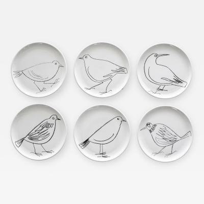 Robert Picault ROBERT PICAULT SET OF 6 BIRD PLATES