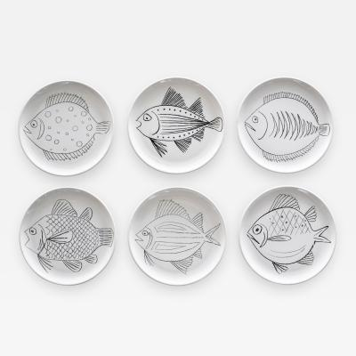 Robert Picault ROBERT PICAULT SET OF 6 FISH PLATES
