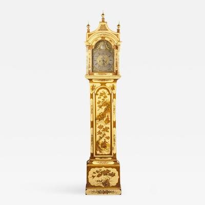Robert Player A Fine London Tall Clock in Chinoiserie Lacquer