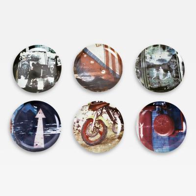Robert Rauschenberg Guggenheim Museum Retrospective Limited Edition Set of 6 Plates