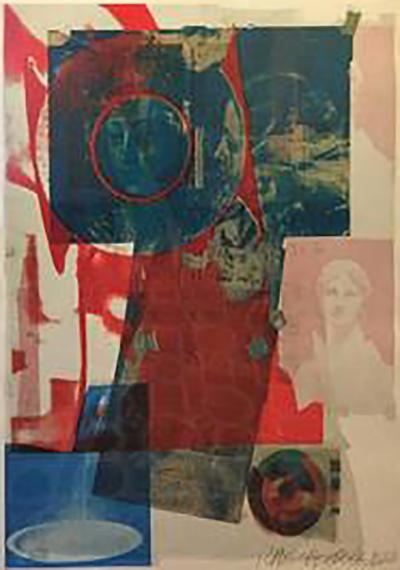 Robert Rauschenberg Robert Rauschenberg Pencil Signed 1968 Color Lithograph