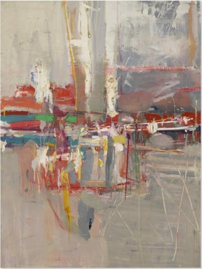 Robert S Neuman Grey Wall Abstraction