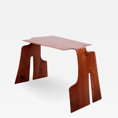 Robert Schultz Robert A Schultz Studio Side Table in Solid Walnut