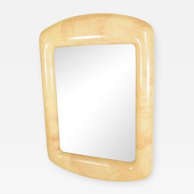 Robert Scott Mid Century Modern Goatskin Mirror after Karl Springer by Robert Scott Assoc