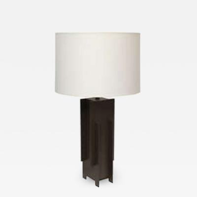 Robert Sonneman Alecia Wesner Table Lamp Mid Century Modern Architectural mixed metals