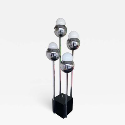 Robert Sonneman Chrome Metal Ball Lamp by Robert Sonneman USA 1970s
