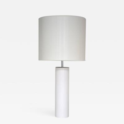 Robert Sonneman Enameled Steel Cylinder Table Lamp