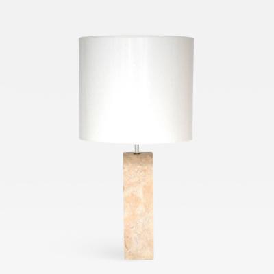 Robert Sonneman Mid Century Marble Column Form Table Lamp