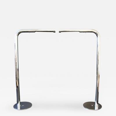 Robert Sonneman Mid Century Modern Pair of Robert Sonneman Polished Chrome Floor Lamps Tubular