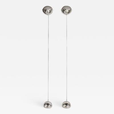 Robert Sonneman Pair of Mid Century Chrome Floor Lamps