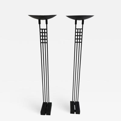Robert Sonneman Pair of Sonneman Torchiere Floor Lamps