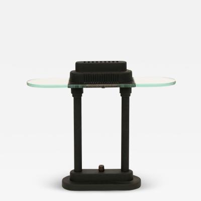 Robert Sonneman Sonneman Lighting Matt black Memphis table lamp by Robert Sonneman for George Kovacs