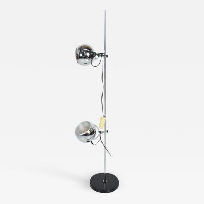 Robert Sonneman Sonneman Lighting Robert Sonneman Modern Double Chrome Eyeball Adjustable Floor Lamp Light 1970s
