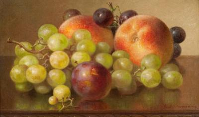 Robert Spear Dunning Still Life with Peaches and Grapes
