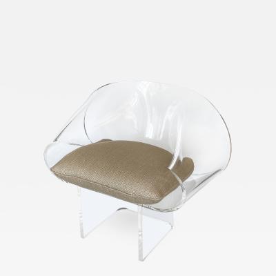 Robert Van Horn Robert Van Horn Lucite Ribbon Lounge Chair Signed