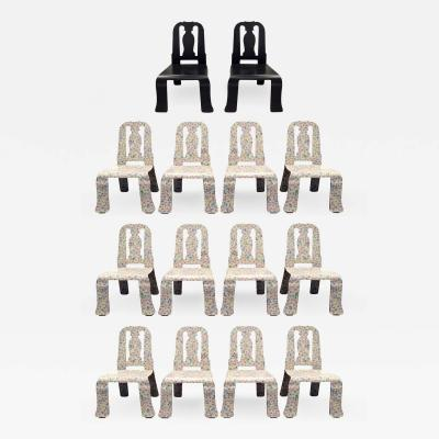 Robert Venturi Rare Robert Venturi Set of 14 Queen Anne Chairs for Knoll circa 1984 signed