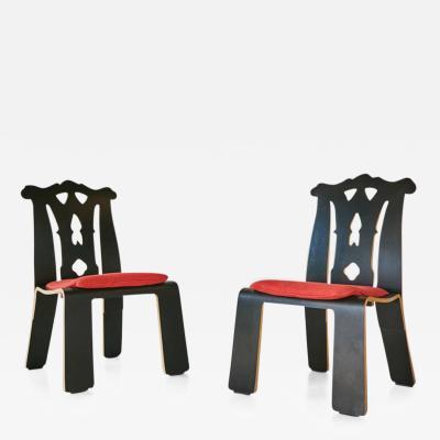 Robert Venturi Robert Venturi Chippendale Side Chairs for Knoll International 1986