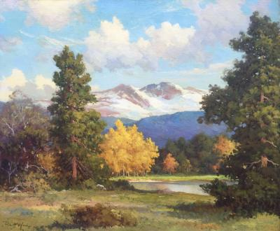 Robert W Wood Longs Peak Colorado Aspens