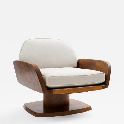 Robert Whitley Robert Whitley American Studio Craft Movement Upholstered Lounge Chair 1968