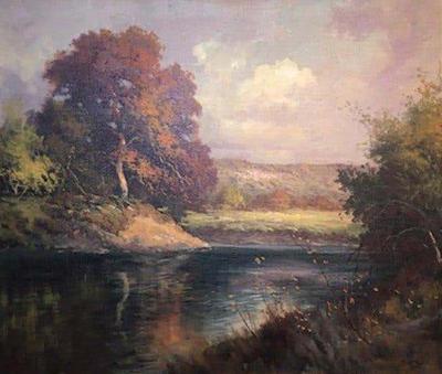Robert Wood Robert William Wood Texas Hill Country Landscape c 1930s