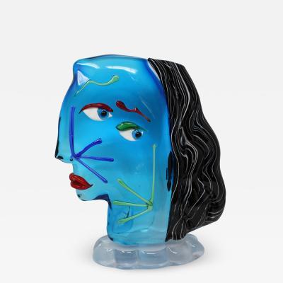 Roberto Beltrami Contemporary Picasso Style Sculpture From Murano