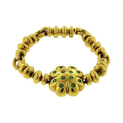 Roberto Faraone Mennella Faraone Emerald Clover Bracelet
