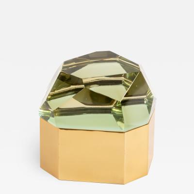 Roberto Giulio Rida Chartreuse Diamante Murano Large Glass Box