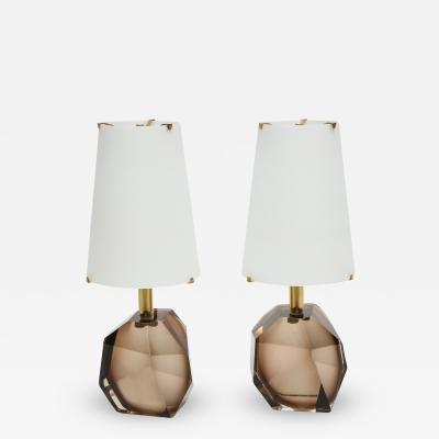 Roberto Giulio Rida Diamante Pair of Table Lamps by Roberto Giulio Rida